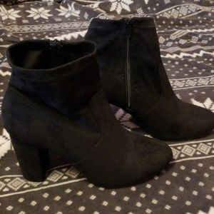 Lane Bryant 11W Black Slouch Ankle Boots
